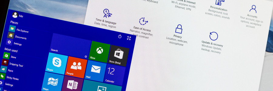 Microsoft Windows start menu